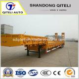 3 80 tonnes d'essieu à utilisation intensive du chargeur/Col de cygne Lowbed/ Faible Faible Lowboy lit camion-remorque semi-remorques pour le transport de l'excavateur