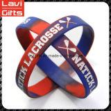 Brazalete de caucho de silicona de colores personalizada con el logotipo