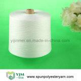 Filé blanc cru de cône de polyester pour coudre/tricotant