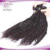 Cabelo por atacado Curly Kinky dos Peruvian do Virgin da extensão não processada do cabelo humano