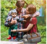 Sacola feita sob encomenda do saco da mamã da forma do desenhista da listra Bolsa de fraldas do bebê
