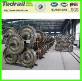 鋳造物鋼鉄鉱山車の車輪セット300mm/350mm/400mm