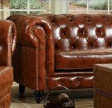 Insieme moderno della mobilia del sofà del salone del cuoio genuino
