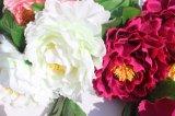 가정 결혼식 훈장이 생생한 실크 인공적인 작약에 의하여 꽃이 핀다