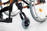 Sillón de ruedas ligero, plegable, manual de aluminio (AL-002B)
