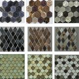 Плитки мозаики строительного материала шестиугольные стеклянные с льдом хруста керамическим
