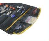 Organizador da correia do jogo do eletricista da maleta de ferramentas do armazenamento do carretel com punho superior