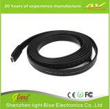Cable negro barato del cable 1.5m de HDMI 4k