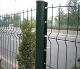 PVC에 의하여 입히는 용접된 철망사 담, 직류 전기를 통한 철사 검술