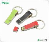 De nieuwe PromotieAandrijving van de Pen van het Leer USB met het Embleem van de Druk (wy-L28)