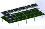 Sistema solare al suolo del montaggio di schiera verticale due