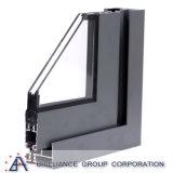 Aluminium gestaltetes doppeltes glasig-glänzendes schiebendes Fenster
