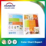 Brochura de cores de impressão para pintura de construção interior e exterior