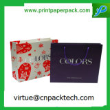 Saco de Compras Personalizados reparável luxo saco de papel Kraft com fita