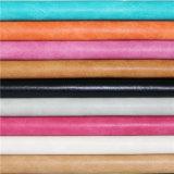 Colorful haut résistant à l'abrasion PU synthétique Stocklot en cuir pour le rembourrage de meubles
