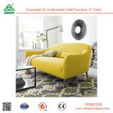 Sofà di legno del salone della mobilia della casa di disegno del tessuto della rappezzatura utilizzato Recliner moderno