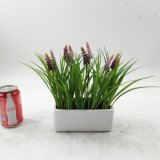 Conservato in vaso di ceramica del Bellflower artificiale dell'interno o esterno
