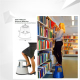 Scaletta di punto di plastica mobile per la libreria, sgabelli di plastica della scaletta di punto