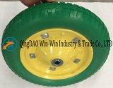 스포크 색깔 (3.00-8)를 가진 편평한 자유로운 PU 외바퀴 손수레 바퀴
