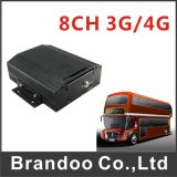 3G GPS Mobiele DVR 8 Video-audio Opname de In real time van het Kanaal HDD