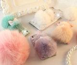 De lujo genuino del conejo de Rex del teléfono de pelo de piel dura de la PC móvil para iPhone6, 6plus con brillo cristalino de la cubierta para el iPhone y Samsung