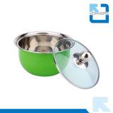 цветастый смешивать нержавеющей стали 3PCS/шар салата с крышкой