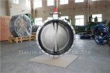 스테인리스 두 배는 벨브 승인된 세륨 ISO Wras를 가진 나비 플랜지를 붙였다 (CBF01-TF01)
