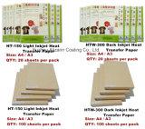 Jet d'encre sur papier de Fer de Transfert de chaleur pour le tissu de couleur claire