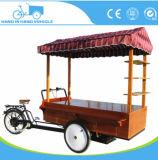 ثمرة يبيع عربة [إيس كرم] عربة قهوة درّاجة