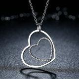 Cuore della radura dell'argento sterlina del classico 925 alla collana del pendente del cuore