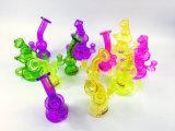 Tubulação de fumo de vidro de vidro de Silika de uma função colorida de 10 polegadas
