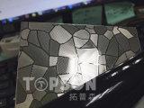 plaque d'acier inoxydable de feuillard 201 304 316 avec la bonne qualité colorée gravée en relief