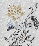 Los complementos tallan el azulejo de mosaico nacarado del shell de los modelos