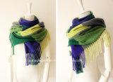女性の方法格子冬の暖かい格子スカーフ