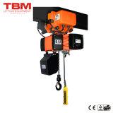 Tbm palan, palan électrique à chaîne en alliage aluminium, 0,5 tonne palan électrique à chaîne