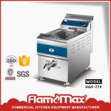Friteuse de gaz de gueulard de Tableau de Hgf 779 1-Tank 1-Basket de Flamemax