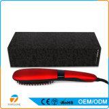 Pantalla LCD Mundial automático con calefacción eléctrica que endereza el pelo de cepillo plancha de pelo peine
