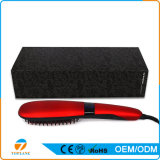 Visor LCD automática mundial aquecimento eléctrico escova alisamento de cabelo pente alisador de cabelo