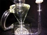 Sexy Design Recycler Cruz Difusor de vidrio de fumar tubería de agua