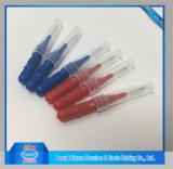 El plástico palillos de dientes con cepillo de dientes limpieza