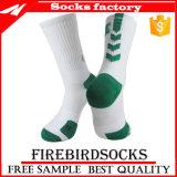 Auslese-Basketball-Socken der Männer Baumwolmit Zoll