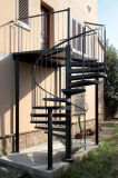 Escadaria de aço ao ar livre galvanizada segurança