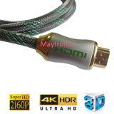 Cabo de nylon da trança 4k 2160p V2.0 HDMI