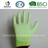 Флуоресцентный зеленый провод фиолетового цвета с покрытием безопасность работы вещевого ящика (SL-PU201G)