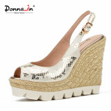Lady White Outsole Snake-Printing Femmes Talons hauts Chaussures à talons