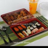 contenitore a gettare nero rosso dei sushi di rettangolo 500ml (SZ-L-27)