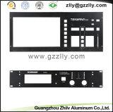 El panel de aluminio negro del dispositivo de los sonidos de los accesorios para el audio electrónico