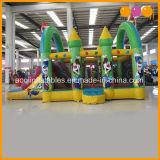 Comercial caliente Bouncer Payaso inflable con tobogán combinado (AQ0124)