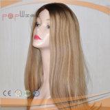 As melhores perucas judaicas superiores de seda superiores louras de Sheitel do cabelo humano da classe