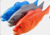 Animal familier Poroducts, jouet d'animal familier de vinyle de poissons de crabot